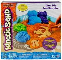 Песок для детского творчества - Kinetic Sand Dino (голубой, коричневый, формочки, окаменелости,340г)