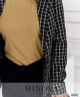 Элегантный брючный костюм-двойка,  пиджак притален, с подплечниками и подкладкой с 42 по 48 размер, фото 6