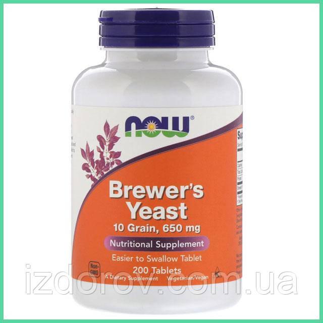 Now Foods, Пивные дрожжи, Brewer's Yeast, 200 таблеток
