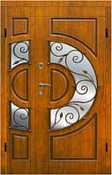 Вхідні двері з мдф накладками Арма з ковкою модель 304 двупола