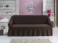 Натяжной чехол на 3х местный диван/Чехол на диван универсальный Турция
