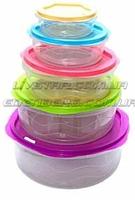Салатники с крышкой, контейнеры для хранения еды, комплект из 5 ёмкостей., фото 2