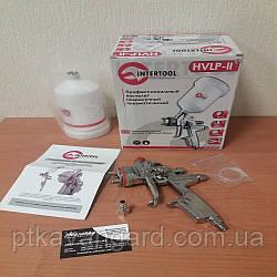 Краскопульт пневматический HVLP II профессиональный 1,4 мм, верхний пластиковый бачок 600 мл INTERTOOL PT-0100