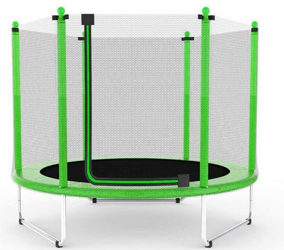 Батут Atleto 152 см с сеткой зелений (5 ft)