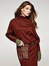 Платье Феррано с поясной сумочкой Modna KAZKA терракотовое, фото 2