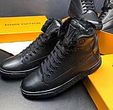 Ботинки мужские Louis Vuitton D8992 черные, фото 2
