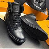 Ботинки мужские Louis Vuitton D8992 черные, фото 3