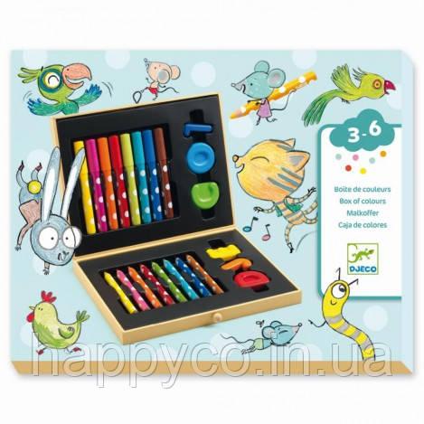 """DJECO Набор для рисования """"Цветная коробка для малышей"""""""
