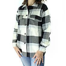 Рубашка женская в клетку на пуговицах деми оверсайз
