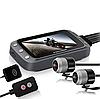 Мото видеорегистратор MT20, с двумя камерами, 3,0 дюйма 1080P, двойная камера, с WI FI и GPS