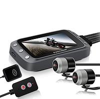 Мото видеорегистратор MT20, с двумя камерами, 3,0 дюйма 1080P, двойная камера, с WI FI и GPS, фото 1