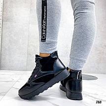 Стильные черные кроссовки 788 (ДБ), фото 2