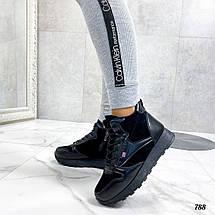 Стильные черные кроссовки 788 (ДБ), фото 3