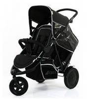 Прогулочная коляска для двойни Hauck - Freerider, цвет черный