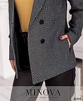 Стильный костюм-двойка с брюками из эко-кожи и пиджак с подкладкой с 42 по 48 размер, фото 9