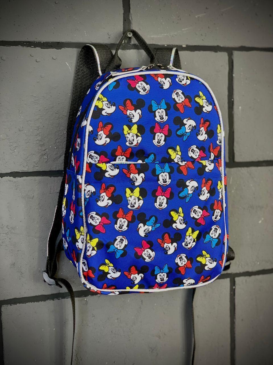 Рюкзак Mickey Mouse Женский/Детский Городской микки маус голубой mini Intruder