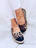 Балетки леопардовые из эко-замши 37 размер