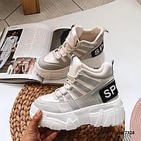 Массивные кроссовки на шнуровке 37 размер, фото 1