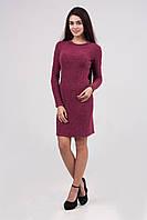 Вязаное платье модной вязки с круглой горловиной, фото 1