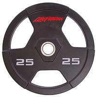 Блин (диск) полиуретановый d-51мм Life Fintess 25кг, фото 1