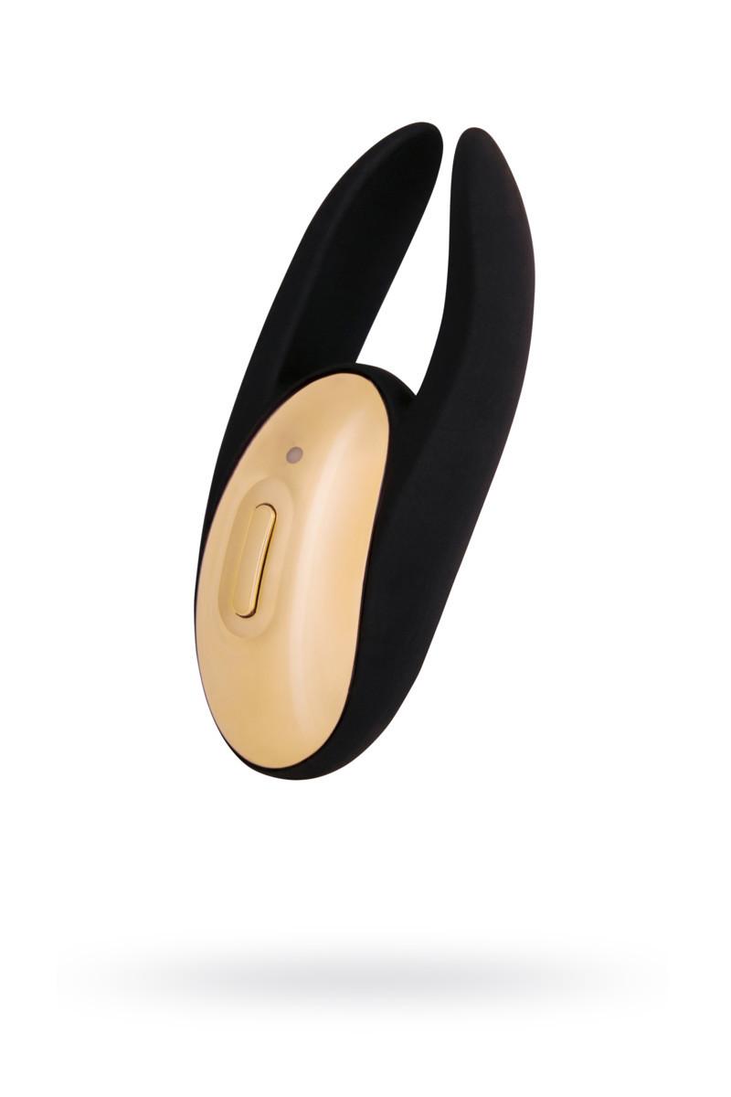 Вібромасажер Waname D-Splash Wave силікон чорний, 9,3 см