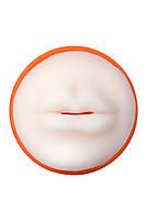 Мастурбатор Toyfa A-Toys, рот, помаранчевий / тілесний, 14 см, фото 3