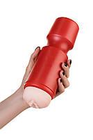 Мастурбатор Toyfa A-Toys червоний / тілесний, вагіна, 24 см, 7,6 см, фото 3