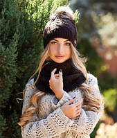 Комплект шапка и шарф - хомут Орианн