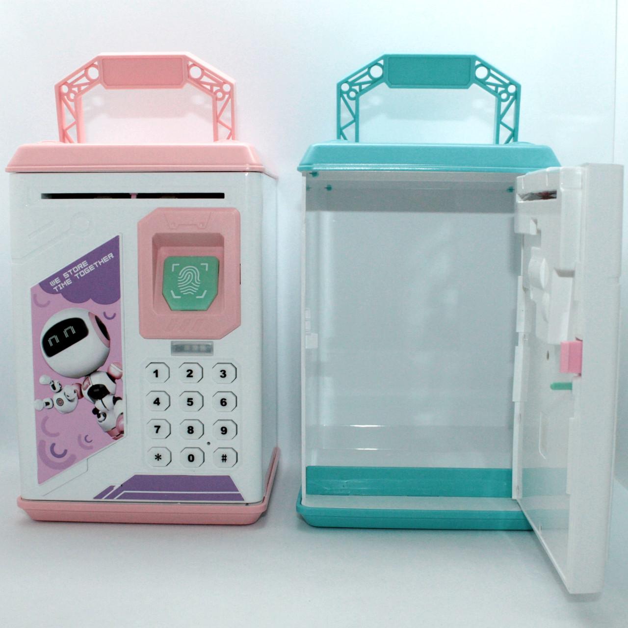 Дитячий сейф скарбничка Robot Bodyguard для грошей з кодовим замком і звуками Електронна скарбничка