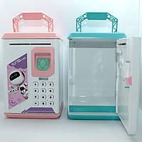 Дитячий сейф скарбничка Robot Bodyguard для грошей з кодовим замком і звуками Електронна скарбничка, фото 1