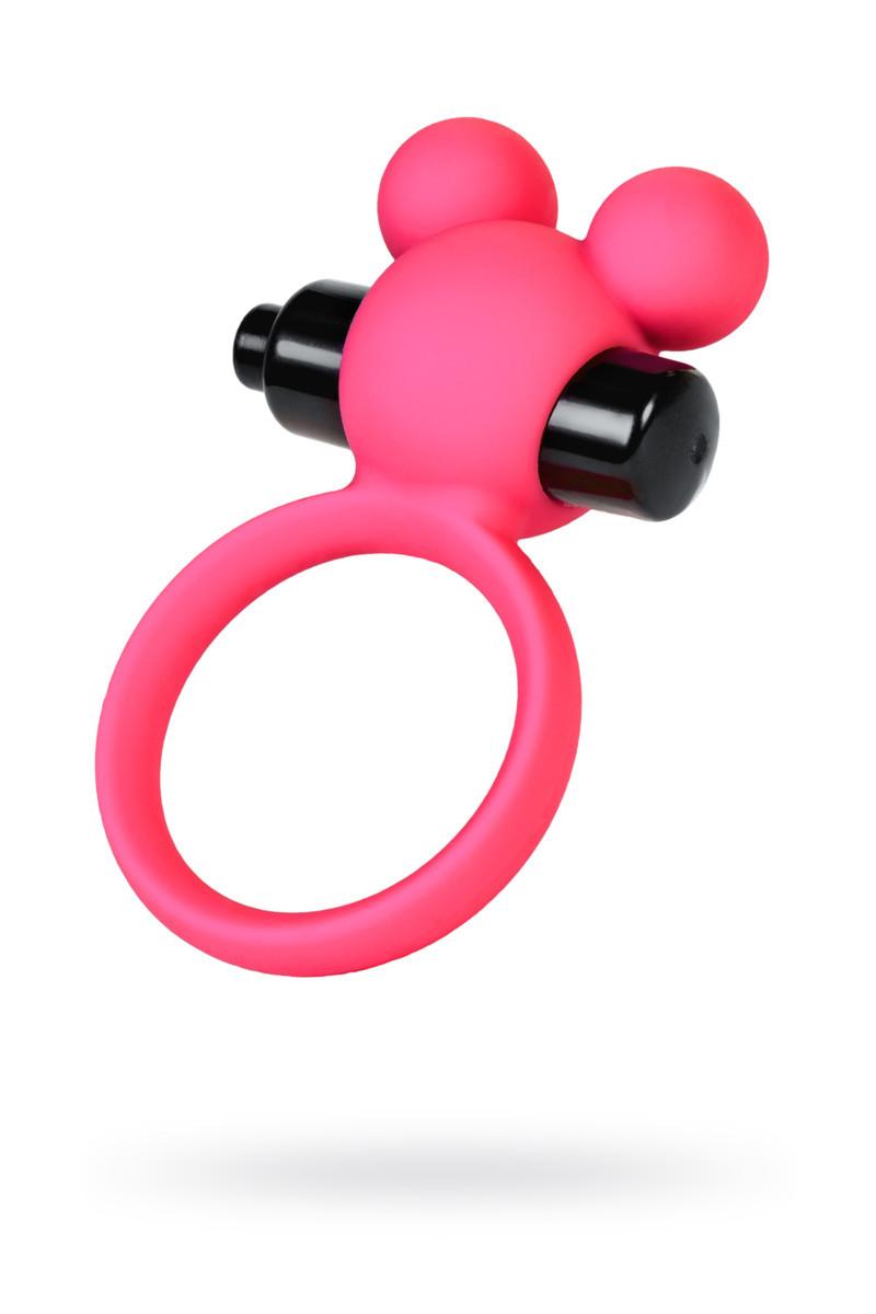 Віброкільце на пеніс A-Toys By Toyfa, силікон, рожеве, ø 3,1 см