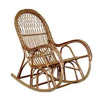 Плетеное кресло-качалка из лозы 60 х 126 х 106 см, 002