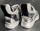 Дитячі черевики-кросівки для хлопчика та дівчинки срібні, фото 2