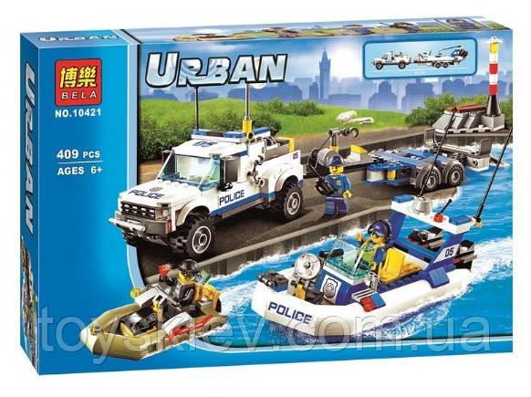 Конструктор Bela 10421 Urban Полицейский патруль (аналог Lego City 60045)