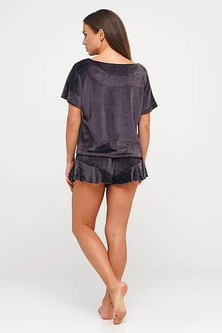 Сиреневая велюровая пижама шорты и футболка TM Orli, фото 2