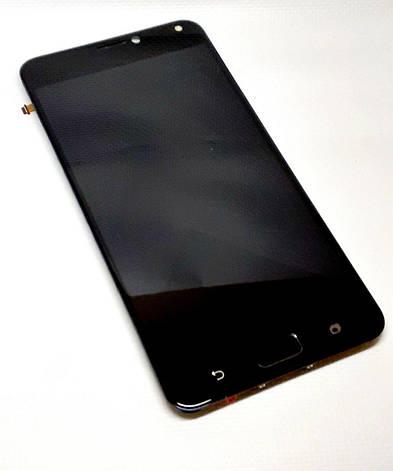 Модуль в сборе сенсор и дисплей в рамке с сенсорной кнопкой Asus Zenfone 4 Max Pro ZC554KL черный оригинал ра, фото 2