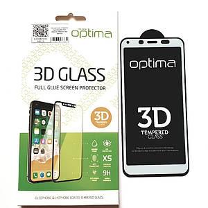 3D защитное стекло на Xiaomi Redmi 6a White на экран телефона.