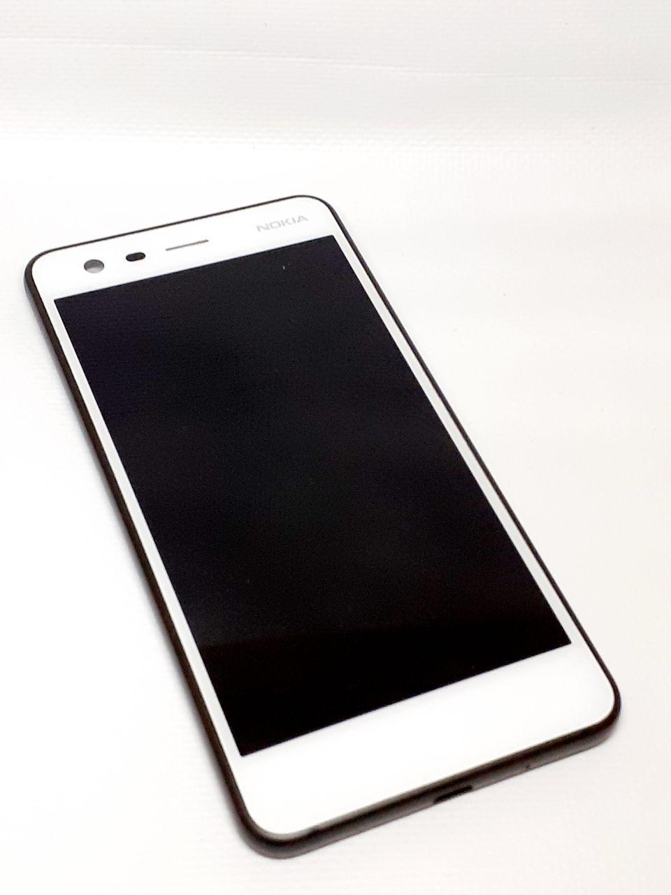 Модуль в сборе сенсор и дисплей в рамке с сенсорной кнопкой Asus Zenfone 4 Max Pro ZC554KL белый оригинал раз