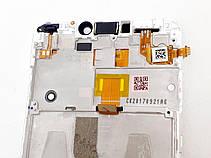 Модуль в сборе сенсор и дисплей в рамке с сенсорной кнопкой Asus Zenfone 4 Max Pro ZC554KL белый оригинал раз, фото 3