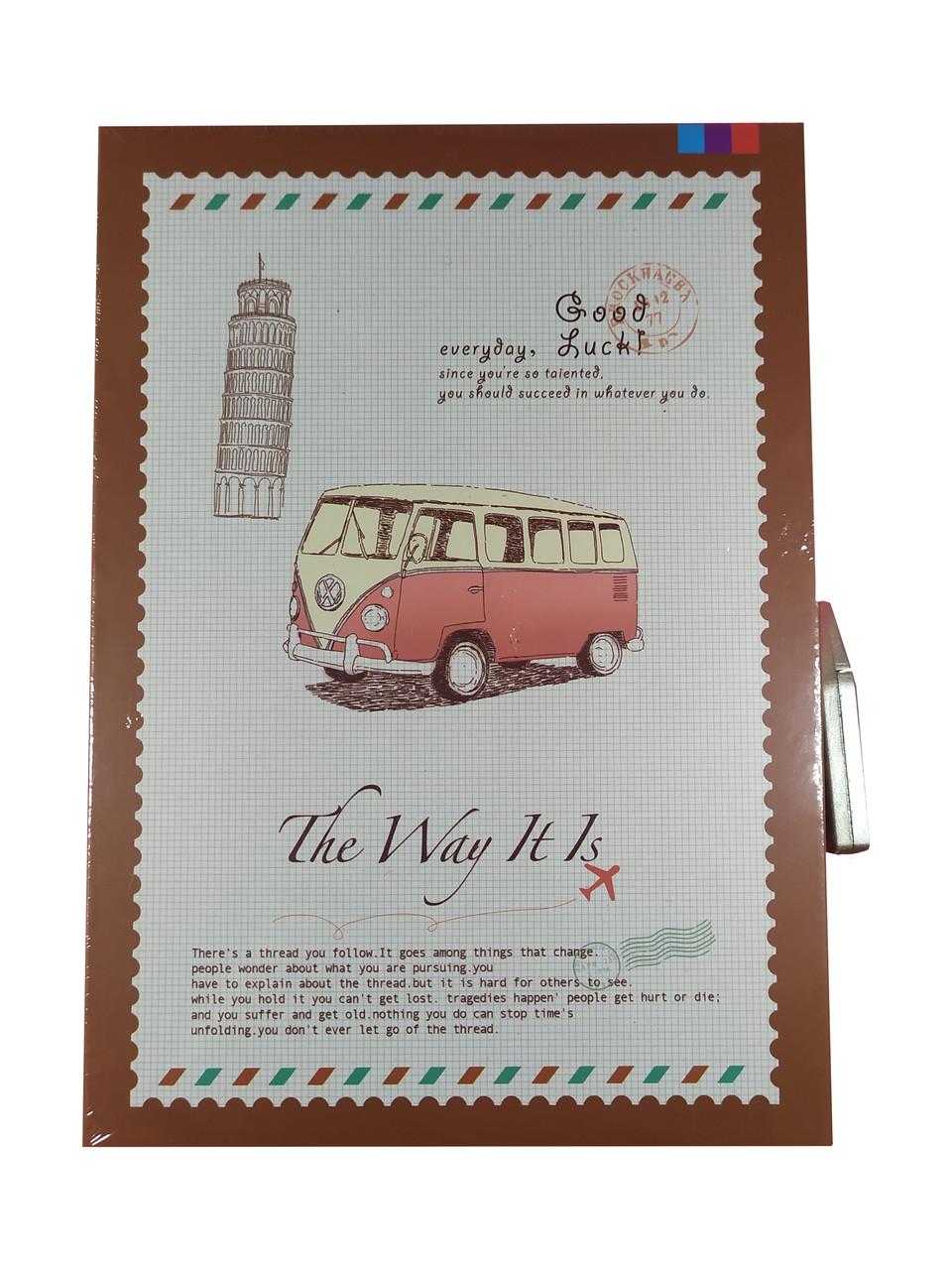 """Блокнот в коробке с кодовым замком """"The way"""", А5"""