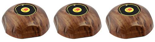 Фото: кнопки виклику офіціанта HCM-350 Wood Bell - 3 штуки - комплект системи виклику RECS №149