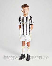Дитяча Футбольна форма Ювентус домашня бела-чорна 2020-2021 (Оригінальна Репліка)