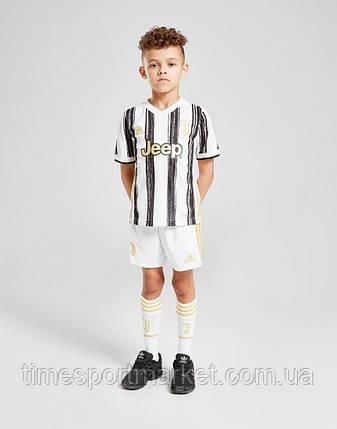 Детская Футбольная форма Ювентус домашняя бела-черная 2020-2021 (Оригинальная Реплика), фото 2
