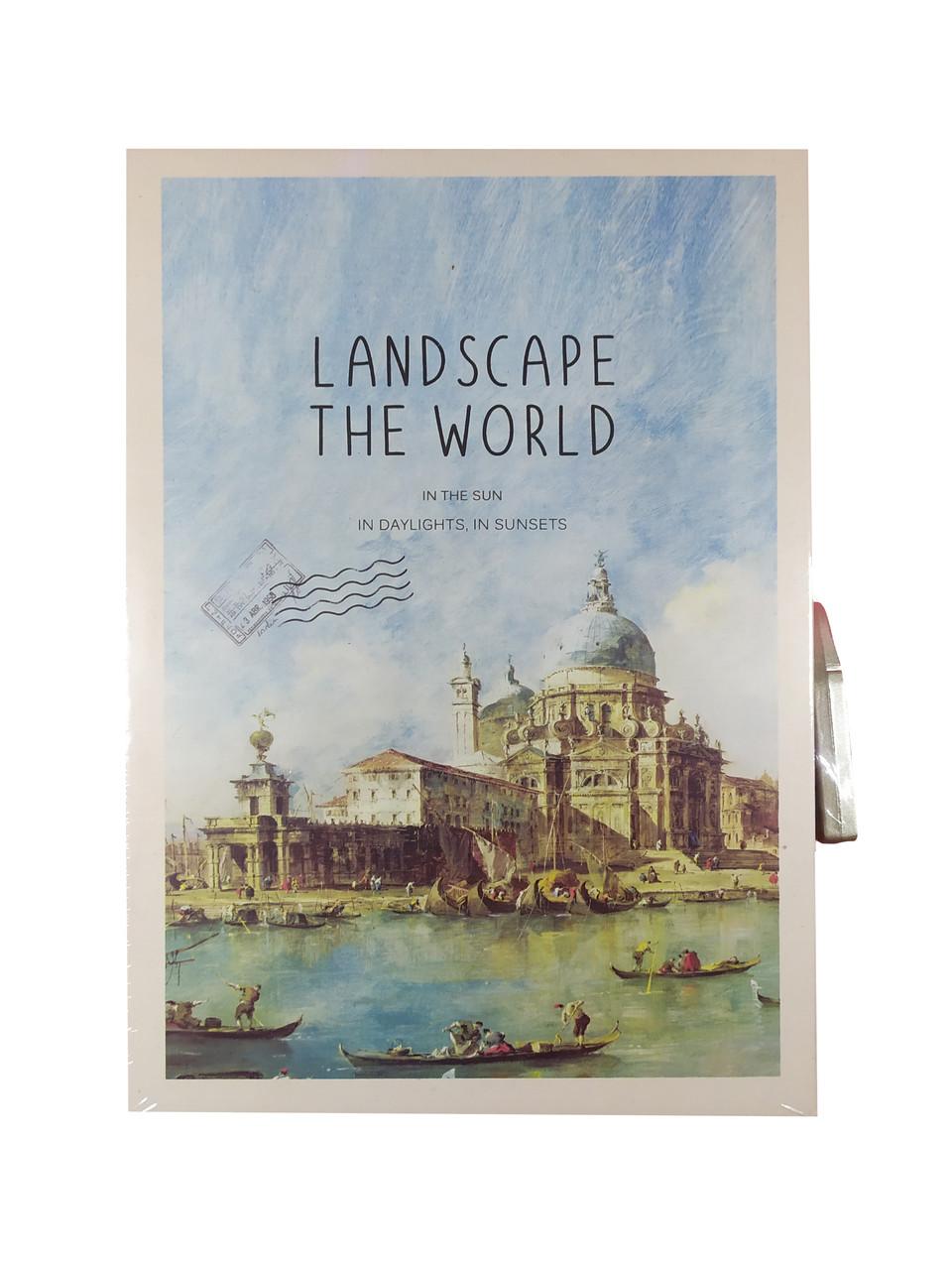 """Блокнот в коробке с кодовым замком """"Landscape"""", А5"""