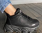 Кросівки еко-шкіра чорні, фото 2