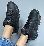 Кросівки еко-шкіра чорні, фото 4