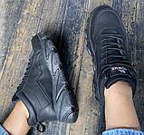 Кросівки еко-шкіра чорні, фото 5