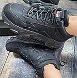 Кросівки еко-шкіра чорні, фото 3