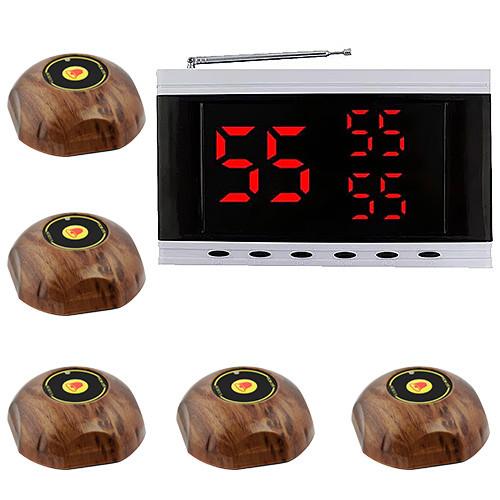 Система вызова официанта RECS №150 | кнопки вызова официанта 5 шт + приемник вызовов