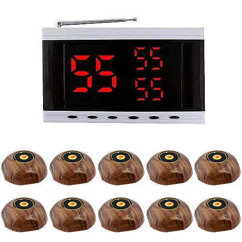 Система вызова официанта RECS №151 | кнопки вызова официанта 10 шт + приемник вызовов